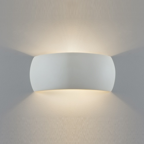 Milo Plaster Wall Light (Paintable) 7073