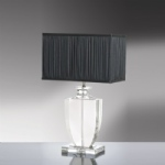 Crystal Table Lamp With Black Shade LUI/LIONA LS1005