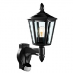 Traditional PIR Wall Light L15 Black