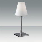 Lucy Satin Nickel Touch Table Lamp 2653-30-178